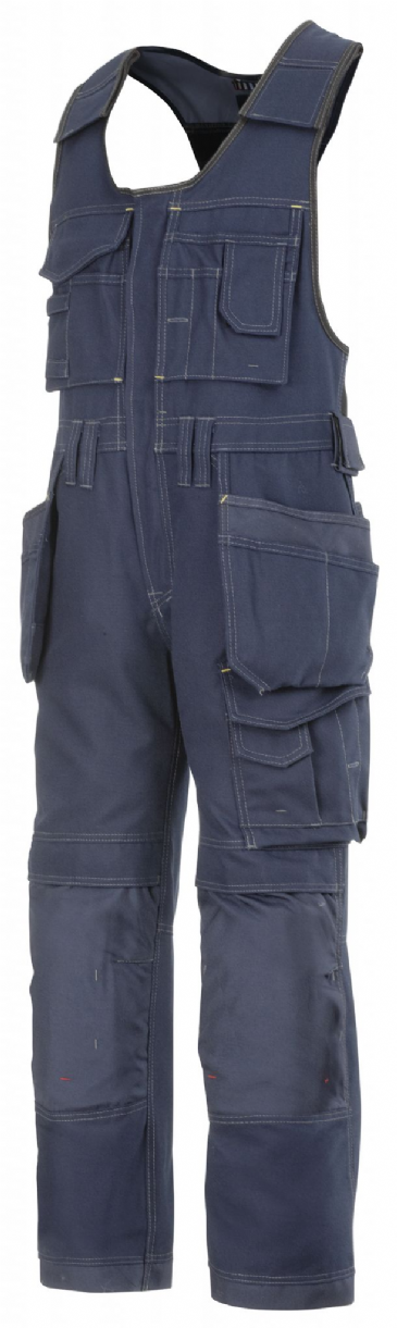 Snickers 0214 Canvas+ Craftsmen One-Piece Holster Pocket Trousers (Navy)